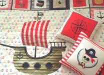 Подушки Пиратский стиль для мальчика