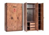 Шкаф 3-х дверный Black Pirate Cilek 20.13.1002.00