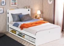 Выдвижная кровать с полками White 20.54.1304.00