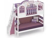 Двухъярусная кровать La Fleur с лестницей с торца