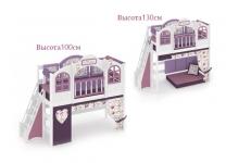 Кровать-чердак La Fleur с лестницей с торца