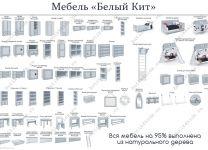 Модуль угловой Белый Кит для малого и большого шкафа