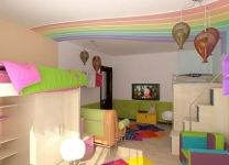 Дизайн: Детская комната Радуга