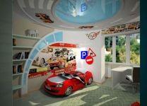 Дизайн: Детская комната с красной кроватью-машиной