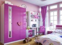 Детский шкаф для одежды Виолетта