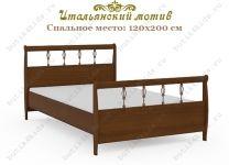 Кровать Итальянский мотив Гармония с металлическим декором