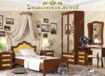 Кровать Итальянский мотив Гармония с цветным декором