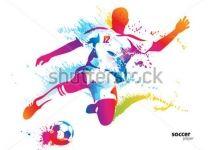 Фотообои Цветной футболист