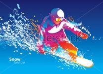 Фотообои Цветной сноубордист