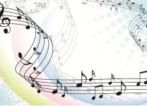 Фотообои Музыкальные ноты
