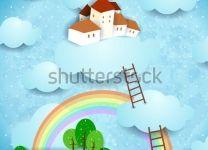 Фотообои детские Воздушный замок