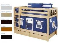 Детская двухъярусная кровать Звездочет