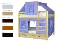 Детская игровая двухъярусная кровать Скворушка-3