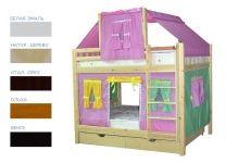 Детская игровая двухъярусная кровать Скворушка-4