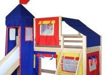 Кровать-чердак игровая с горкой Рыцарь 1