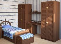 Двухдверный шкаф Морской стиль