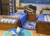 Кровать со штурвалом Морской стиль