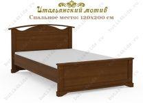 Кровать Итальянский мотив Гармония с высоким изголовьем