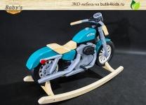 Детский мотоцикл-качалка из дерева Baby's Garage