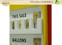 ЭКО шкаф бензоколонка Pump Baby's Garage для игрушек со счётами