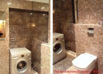Ремонт в ванной, туалете с отделкой из искусственного камня