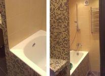 Ремонт ванной, туалета с мелкой плиткой