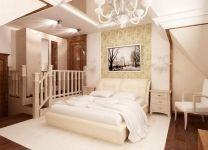 Дизайн: Спальня-мансарда