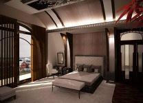 Дизайн: Спальня-мансарда с нестандартными окнами
