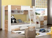 Детская двухъярусная кровать Rich с полками